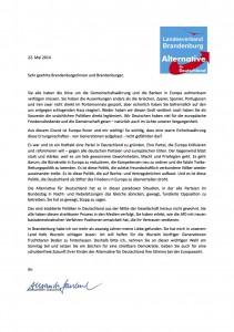Wahlaufruf-Europawahl