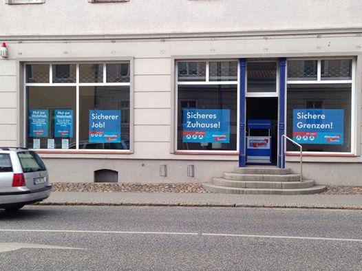 Landtagswahl 2014 - AfD Logistikzentrale in Seelow, Land Brandenburg