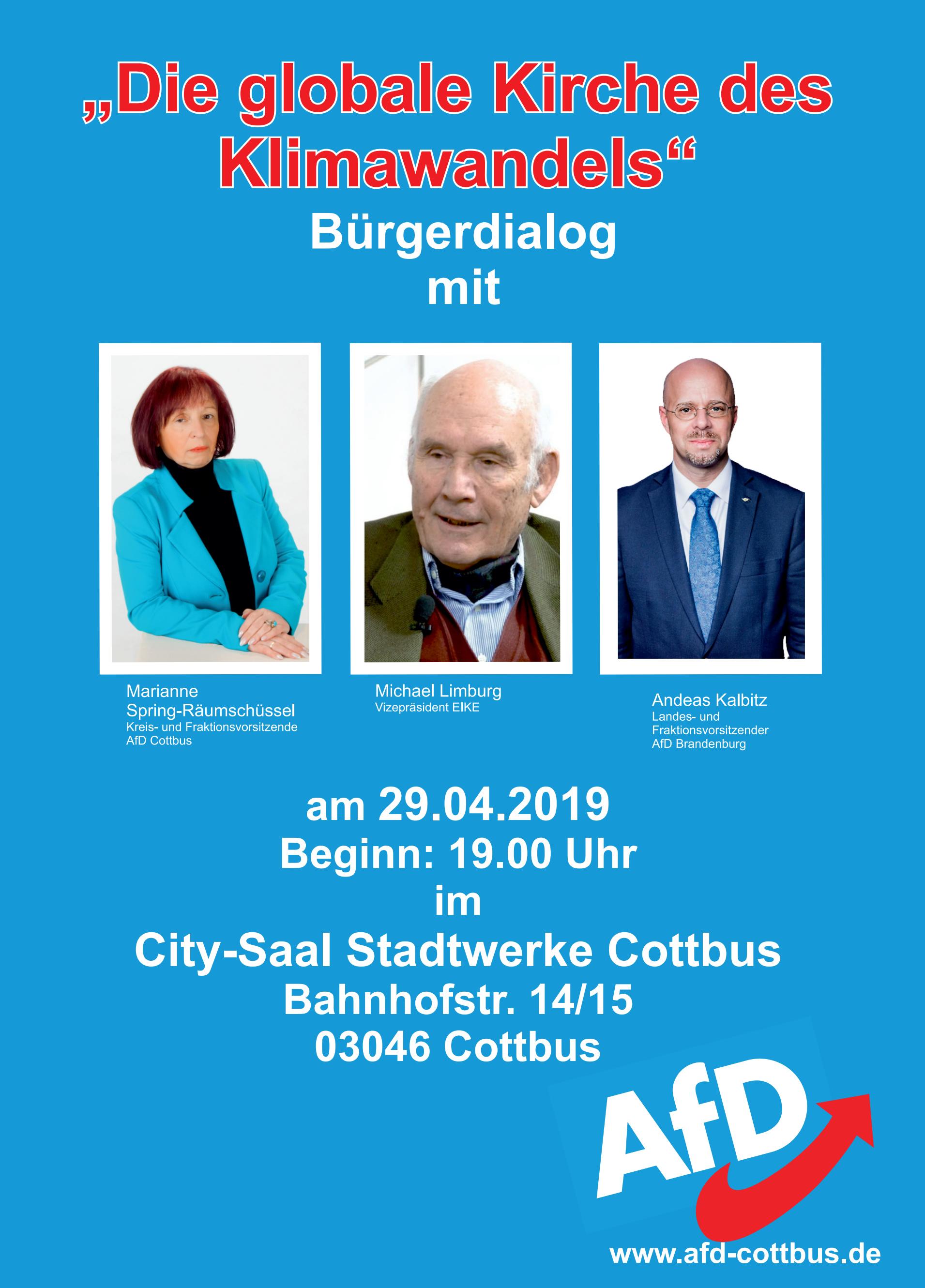 "Bürgerdialog ""Die globale Kirche des Klimawandels"" mit Michael Limburg"