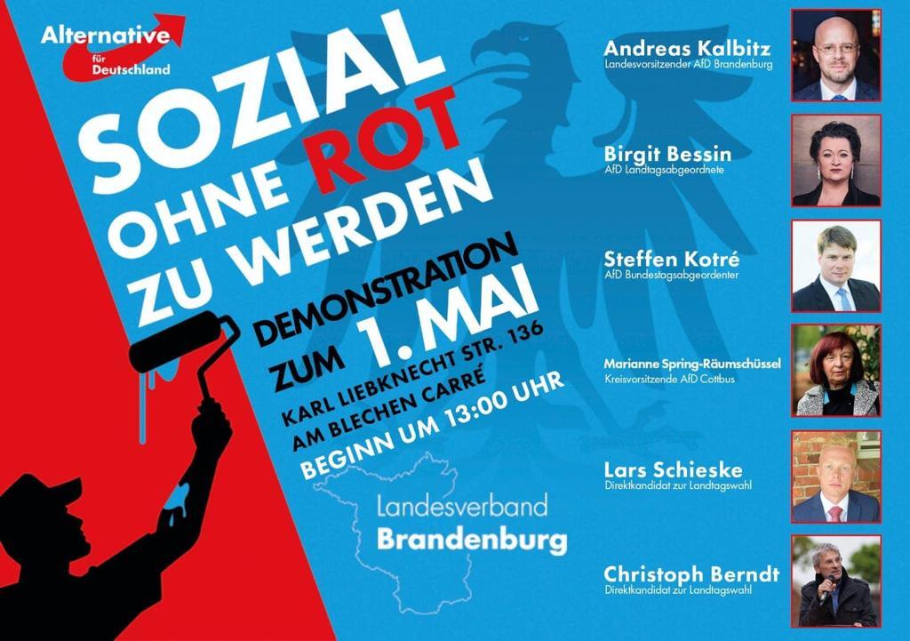 1. Mai Demonstration in Cottbus