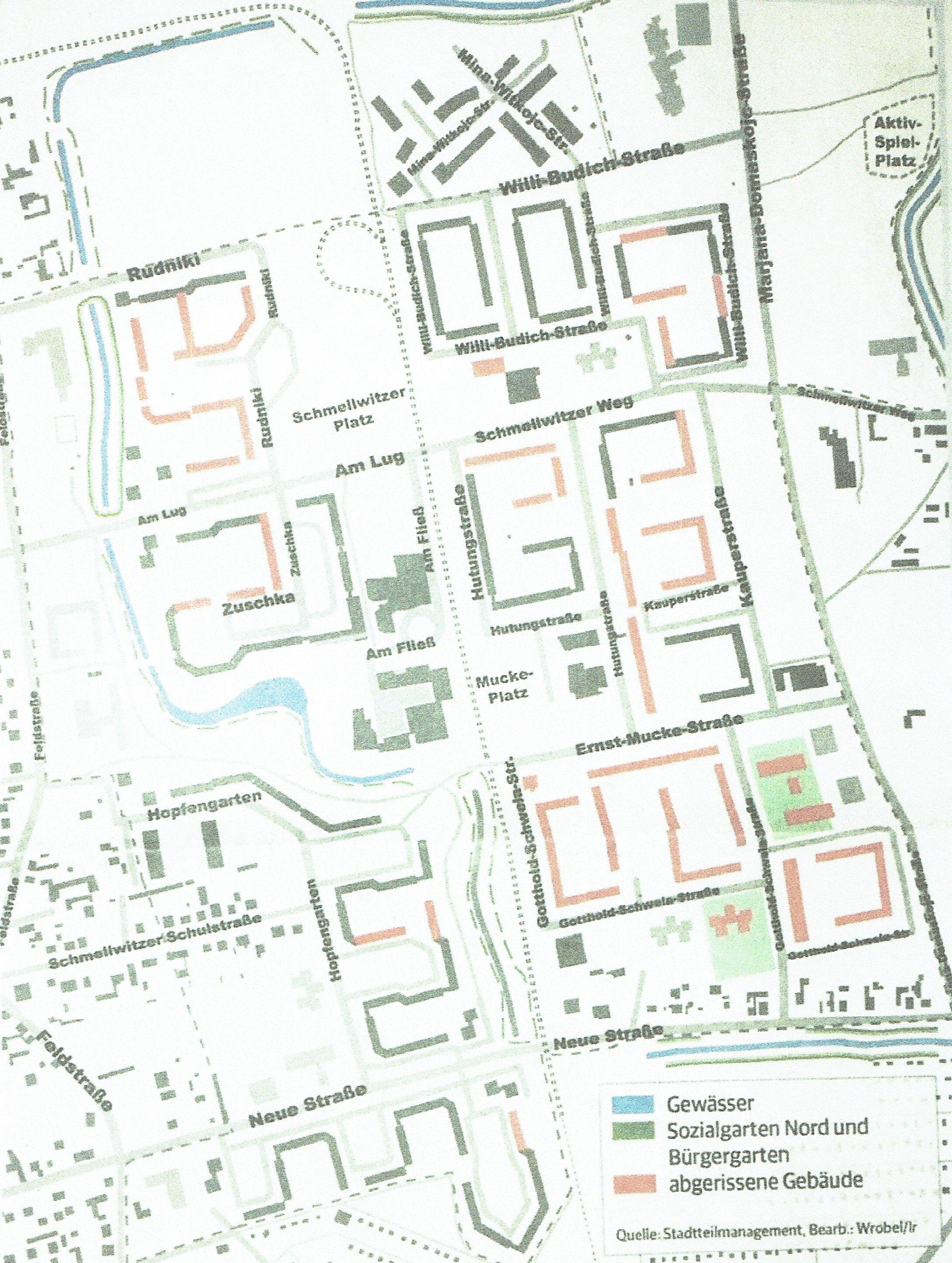 Verhandlungen mit dem Fördermittelgeber über Aufhebung der Fördermittelbindung für Abrissgebiete in Cottbus
