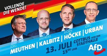 Wahlkampfauftakt in Cottbus