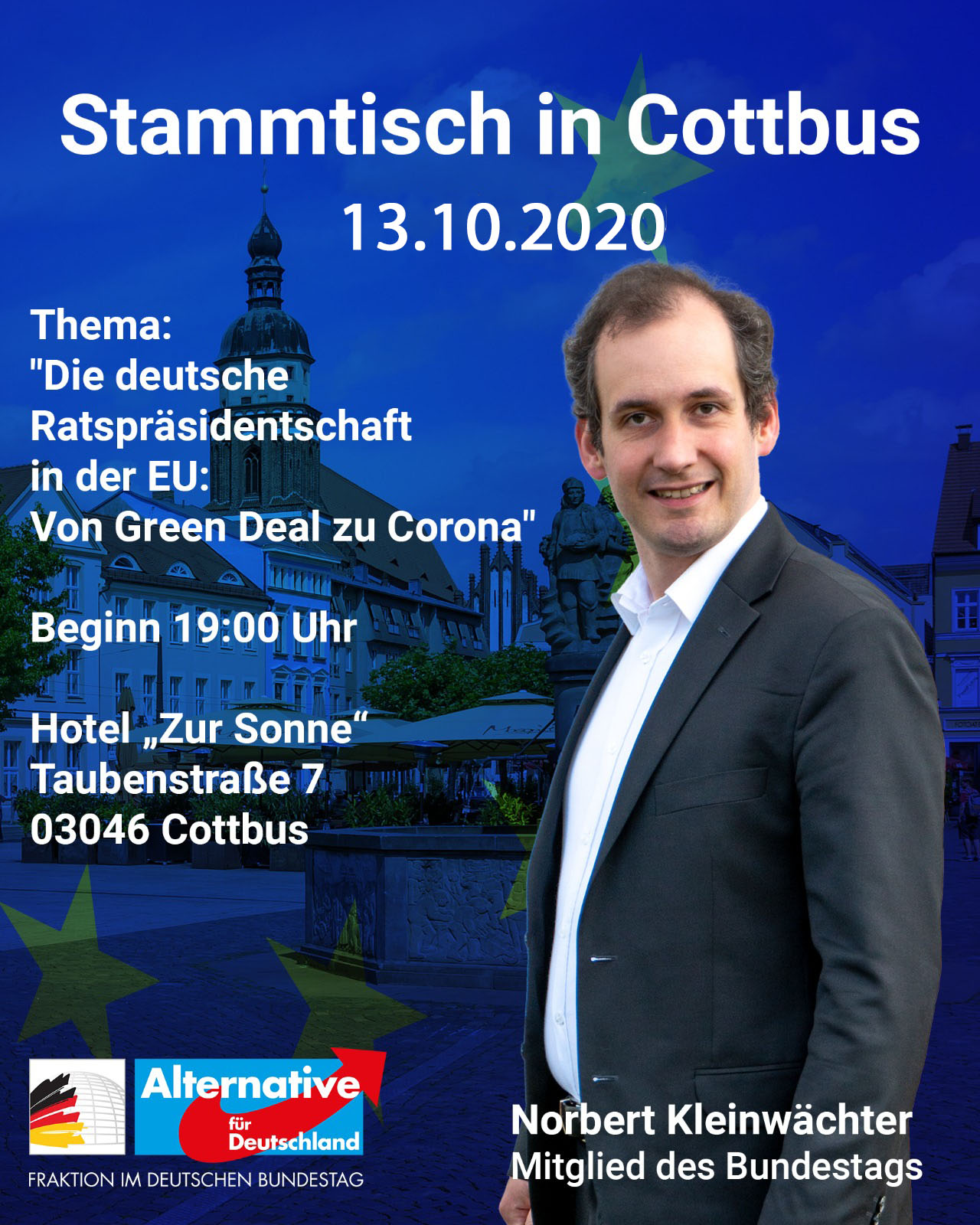 AfD Kreisverband Cottbus Stammtisch am 13.10.2020