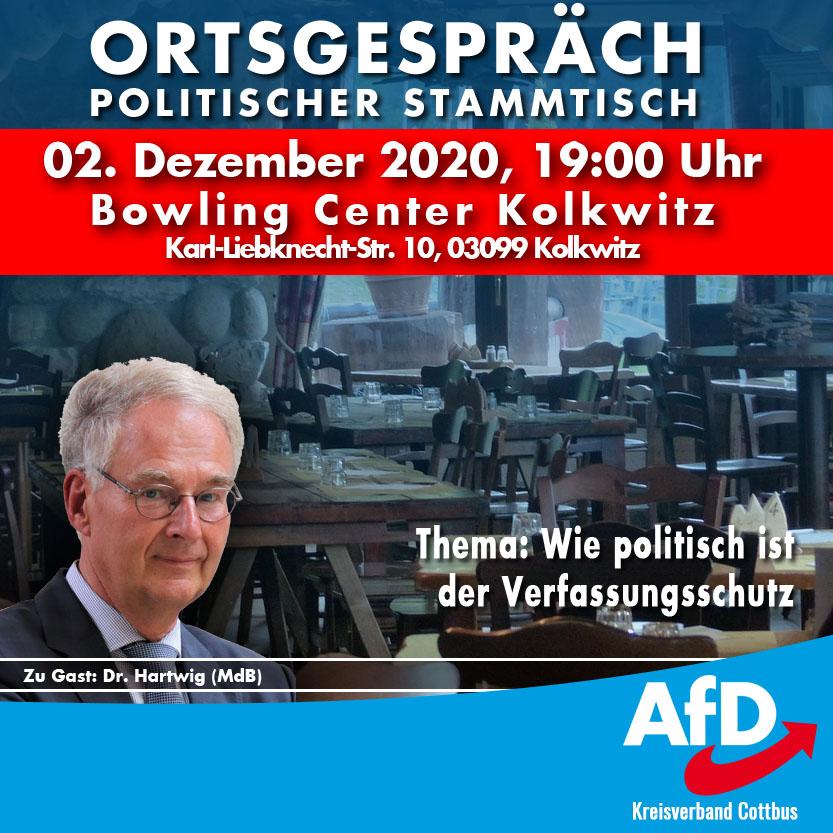 AfD Kreisverband Cottbus Stammtisch 02.12.2020