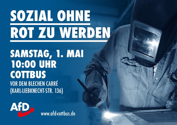 1. Mai-Demo in Cottbus: Sozial ohne rot zu werden!
