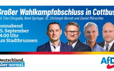 Großer Wahlkampfabschluss mit Tino Chrupalla